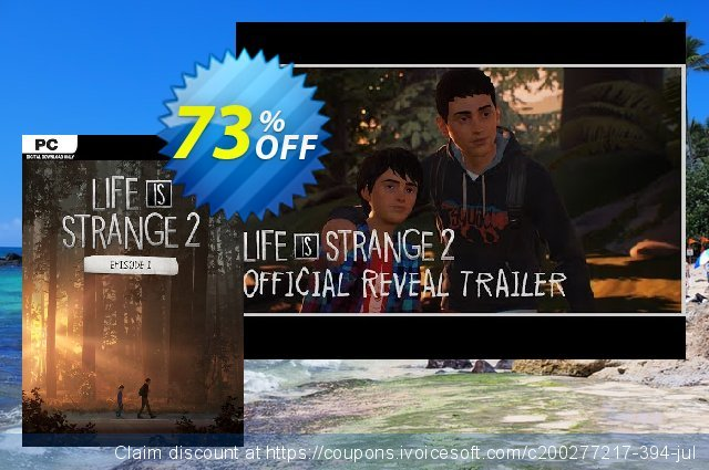 Life is Strange 2 - Episode 1 PC discount 73% OFF, 2021 Mother Day offering sales. Life is Strange 2 - Episode 1 PC Deal