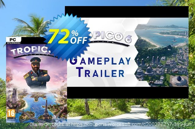 Tropico 6 PC discount 47% OFF, 2021 Spring offering sales