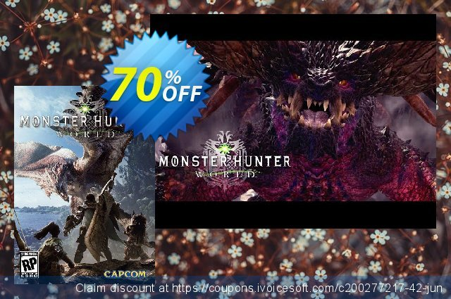 Monster Hunter World PC discount 70% OFF, 2021 Mother Day discount. Monster Hunter World PC Deal