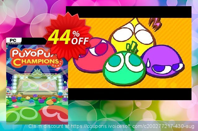 Puyo Puyo Champions PC (EU) discount 50% OFF, 2020 Back to School deals offering sales
