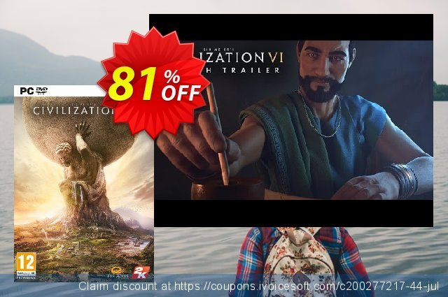 Sid Meier's Civilization VI 6 PC discount 83% OFF, 2020 New Year's Day deals