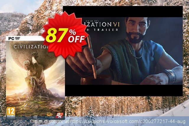Sid Meier's Civilization VI 6 PC discount 81% OFF, 2021 New Year's Day deals