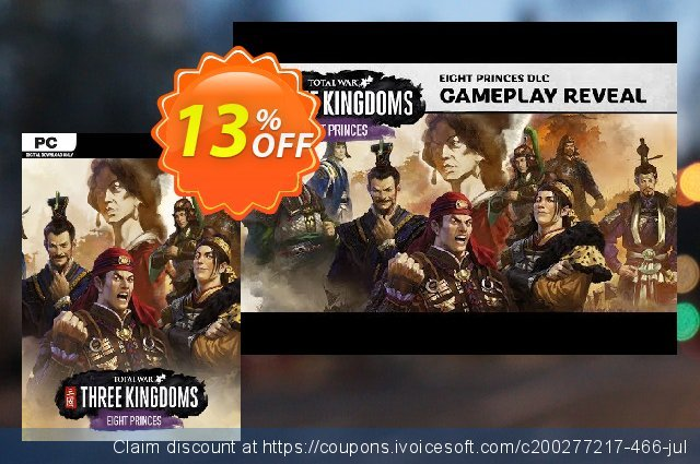 Total War: THREE KINGDOMS PC Eight Princes DLC (US) beeindruckend Preisnachlass Bildschirmfoto
