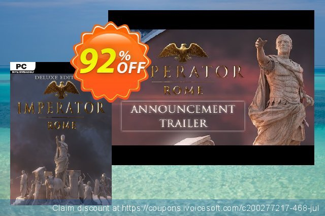 Imperator Rome Deluxe Edition PC + DLC discount 68% OFF, 2020 Back to School promo discounts