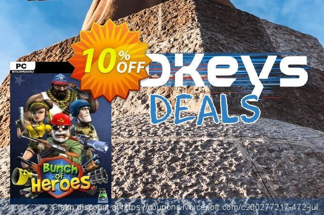Bunch of Heroes PC discount 10% OFF, 2021 Mother Day discounts. Bunch of Heroes PC Deal