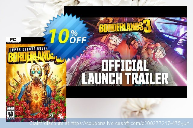 Borderlands 3 Super Deluxe Edition PC + DLC (US/AUS/JP) 令人吃惊的 促销销售 软件截图