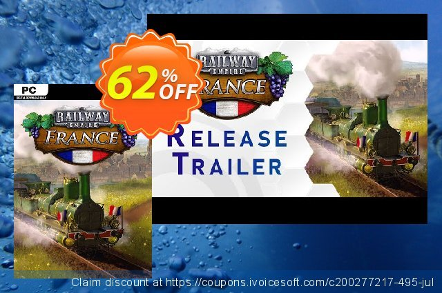 Railway Empire PC - France DLC discount 40% OFF, 2020 Back to School coupons offering deals