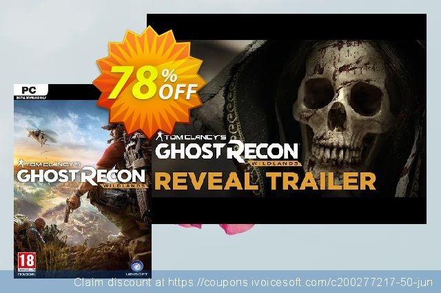 Tom Clancy's Ghost Recon Wildlands PC discount 74% OFF, 2021 Mother Day offering sales. Tom Clancy's Ghost Recon Wildlands PC Deal