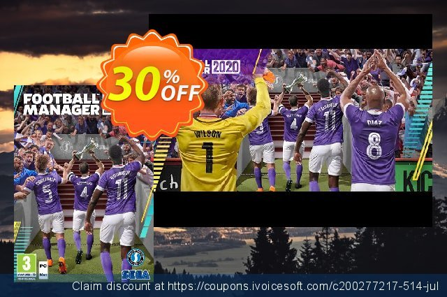 Football Manager 2020 PC (WW) discount 18% OFF, 2020 Back to School shopping offering deals