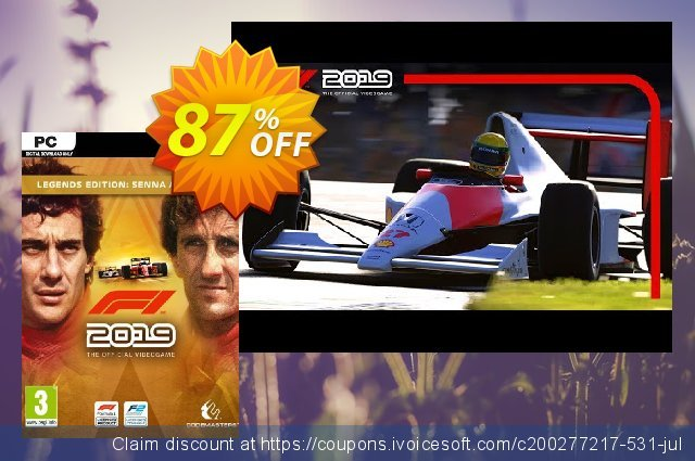 F1 2019 Legends Edition PC discount 83% OFF, 2020 Back to School promo offering discount
