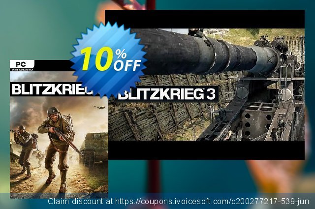 Blitzkrieg 3 PC discount 10% OFF, 2021 Spring offering discount