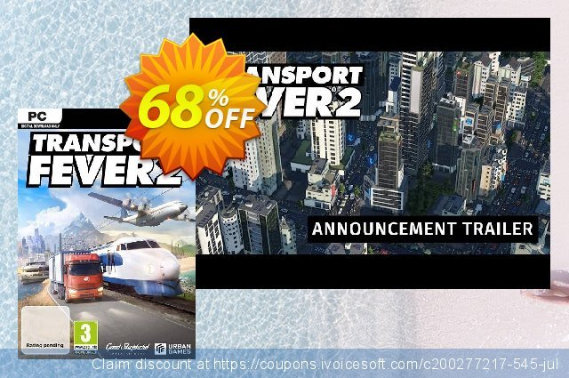 Transport Fever 2 PC discount 47% OFF, 2021 Mother's Day offering sales. Transport Fever 2 PC Deal