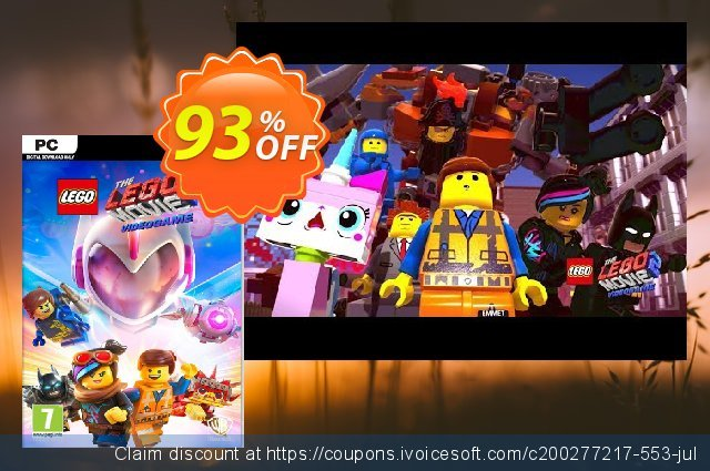 The LEGO Movie 2 Videogame PC discount 83% OFF, 2020 Back to School event promo sales