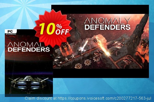 Anomaly Defenders PC discount 10% OFF, 2020 Halloween promotions