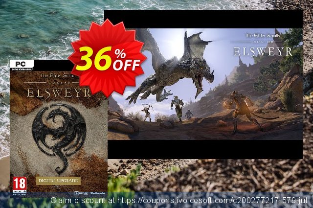 The Elder Scrolls Online - Elsweyr Upgrade PC discount 48% OFF, 2020 Back to School coupons offering sales