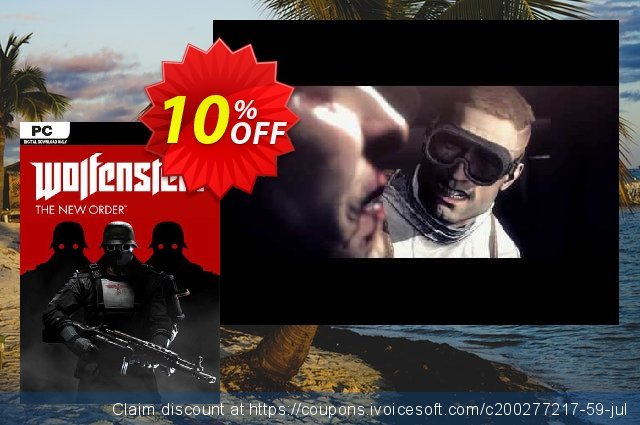 Wolfenstein: The New Order PC discount 90% OFF, 2020 Happy New Year offering sales