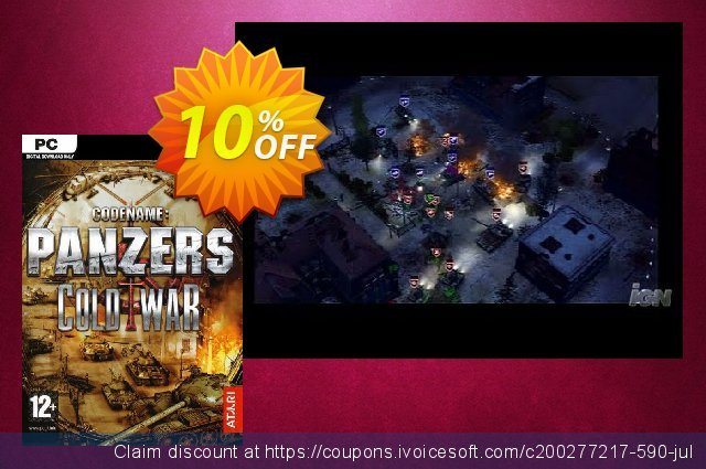 Codename Panzers Cold War PC discount 10% OFF, 2020 Halloween promo sales