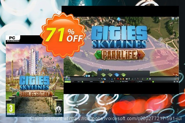 Cities: Skylines - Parklife Edition PC 令人敬畏的 促销 软件截图
