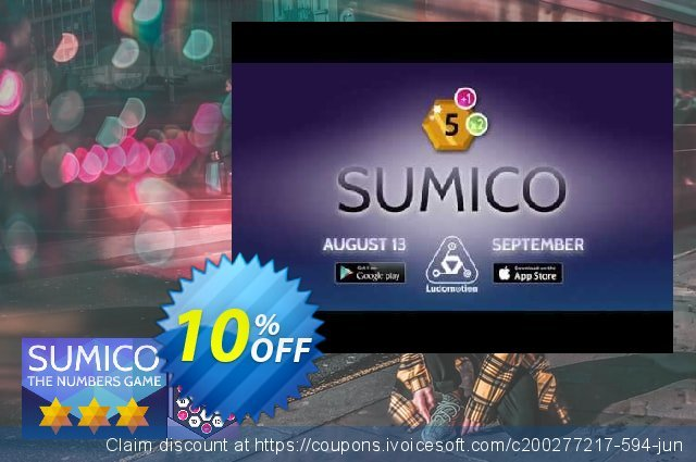 SUMICO The Numbers Game PC discount 10% OFF, 2020 Back to School promo offering sales