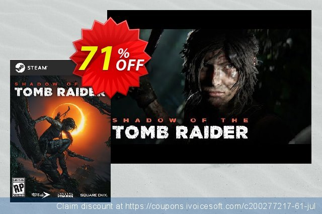 Shadow of the Tomb Raider PC discount 70% OFF, 2021 Happy New Year promotions