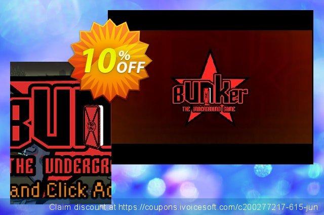 Bunker The Underground Game PC discount 10% OFF, 2021 Mother's Day promo. Bunker The Underground Game PC Deal