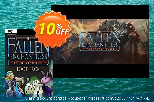 Fallen Enchantress Legendary Heroes Loot Pack DLC PC 惊人的 优惠券 软件截图