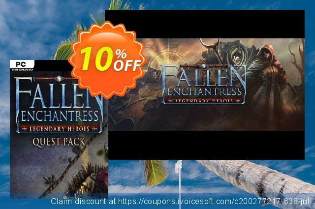 Fallen Enchantress Legendary Heroes Quest Pack DLC PC discount 10% OFF, 2020 Back-to-School promotions offering sales