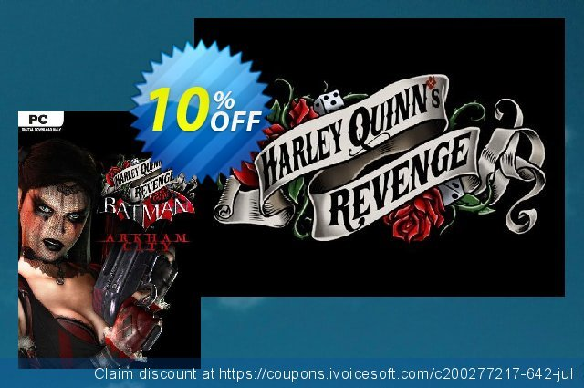 Batman Arkham City Harley Quinn's Revenge PC discount 10% OFF, 2020 Back to School coupons deals