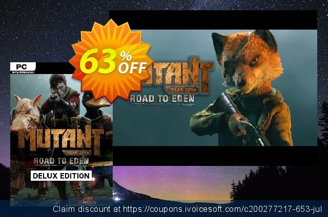 Mutant Year Zero Road to Eden Deluxe Edition PC discount 63% OFF, 2020 College Student deals offering sales