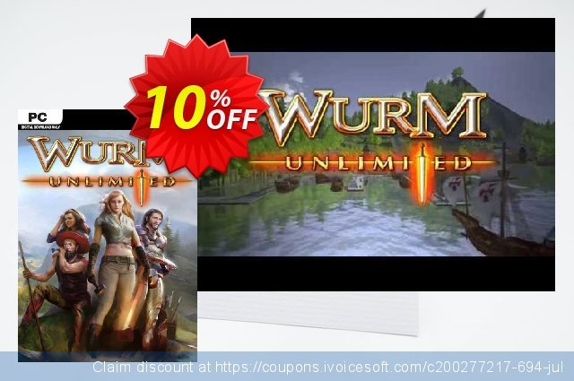Wurm Unlimited PC discount 10% OFF, 2021 Working Day offering sales. Wurm Unlimited PC Deal
