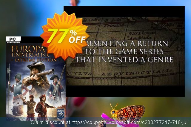 Europa Universalis IV 4 Extreme Edition PC discount 83% OFF, 2020 Back to School Promos deals