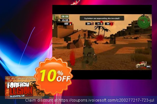 Foreign Legion Buckets of Blood PC discount 10% OFF, 2020 Halloween promo sales