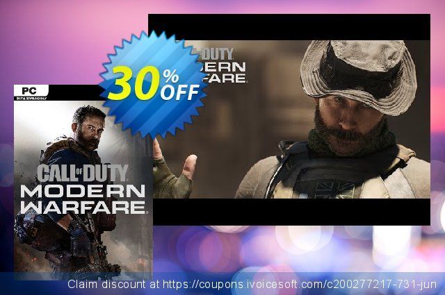 Call of Duty Modern Warfare - Double XP Boost PC discount 30% OFF, 2021 National No Bra Day offering sales. Call of Duty Modern Warfare - Double XP Boost PC Deal