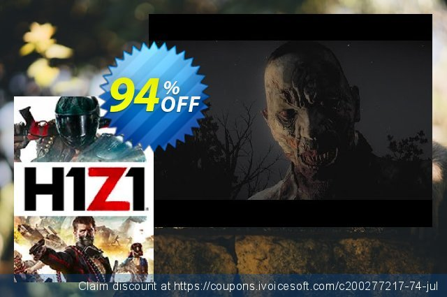 H1Z1 PC + DLC discount 94% OFF, 2021 Working Day offering sales. H1Z1 PC + DLC Deal