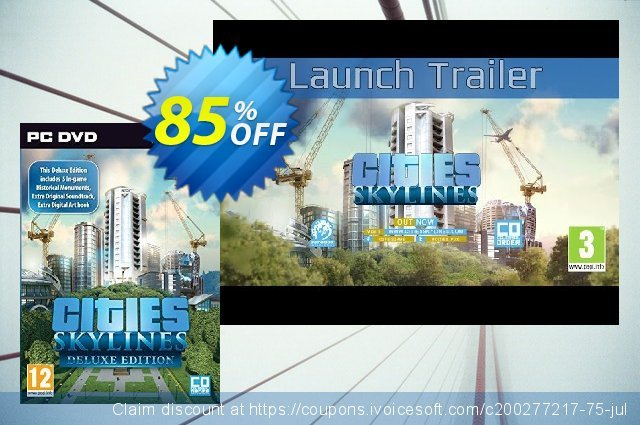 Cities Skylines Deluxe Edition PC/Mac 惊人的 产品销售 软件截图