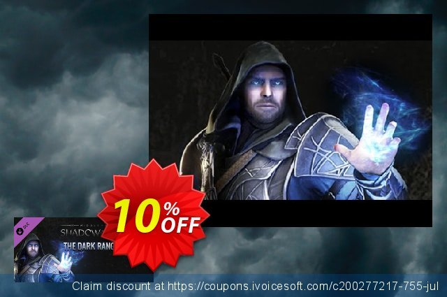 Middleearth Shadow of Mordor The Dark Ranger Character Skin PC discount 10% OFF, 2020 Teacher deals sales