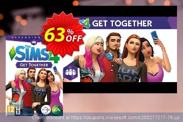 The Sims 4 - Get Together PC discount 58% OFF, 2021 Mother Day promotions. The Sims 4 - Get Together PC Deal