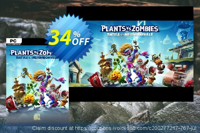 Plants vs. Zombies: Battle for Neighborville PC discount 34% OFF, 2020 Back to School offer offering sales