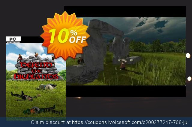 Defend The Highlands PC discount 10% OFF, 2020 Back to School coupons offering sales