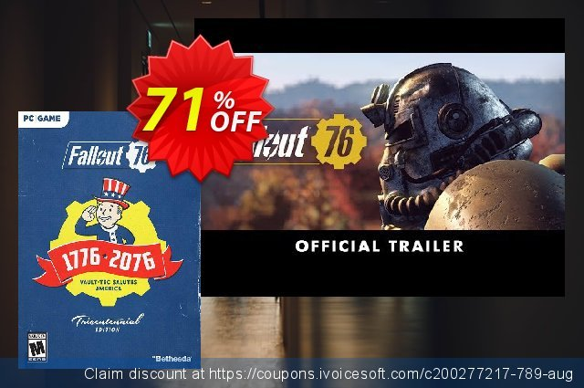 Fallout 76 Tricentennial Edition PC (AUS/NZ) 独占 扣头 软件截图