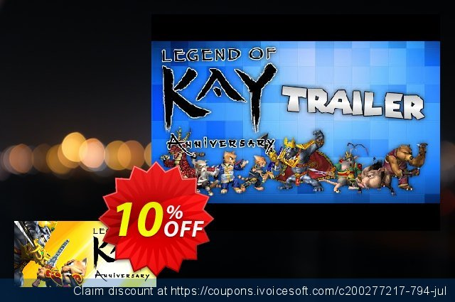 Legend of Kay Anniversary PC discount 10% OFF, 2020 Exclusive Teacher discount deals