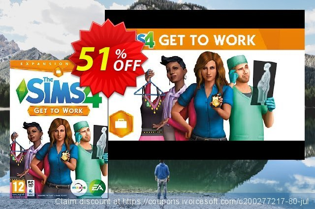 The Sims 4 - Get To Work PC / Mac discount 63% OFF, 2021 Happy New Year promotions