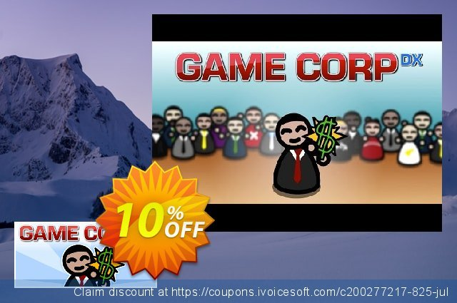 Game Corp DX PC discount 10% OFF, 2020 Back to School promo offering sales