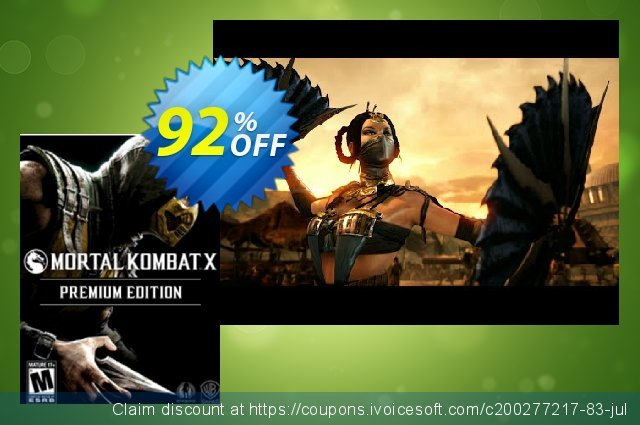 Mortal Kombat X Premium Edition PC discount 92% OFF, 2021 Mother's Day offering deals. Mortal Kombat X Premium Edition PC Deal