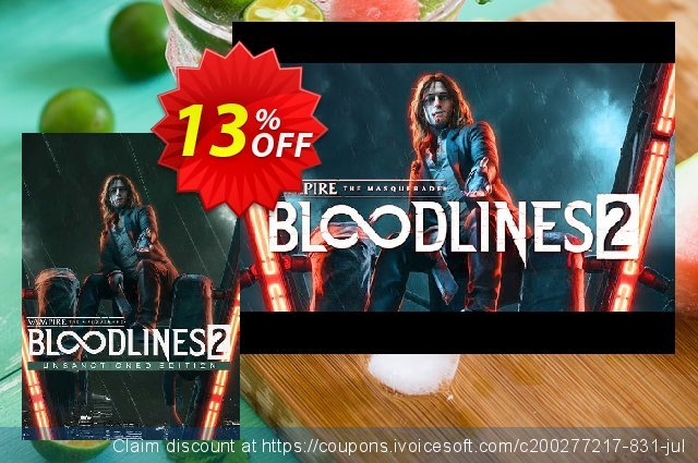 Vampire: The Masquerade - Bloodlines 2: Unsanctioned Edition PC discount 13% OFF, 2020 Back to School coupons sales