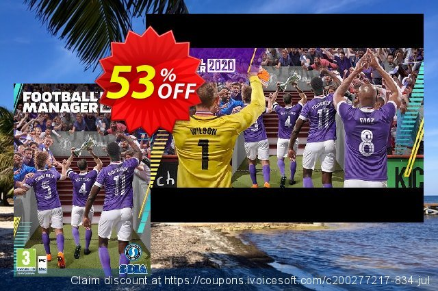 Football Manager 2020 PC (EU) discount 50% OFF, 2021  Lover's Day offering sales