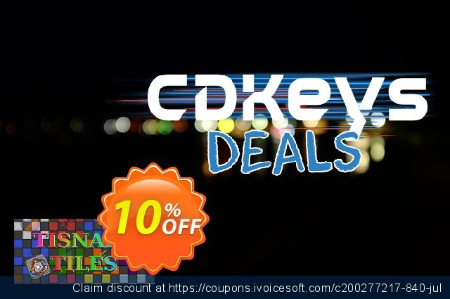 Tisnart Tiles PC discount 10% OFF, 2020 College Student deals offering sales