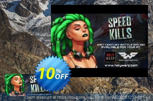 Speed Kills PC discount 10% OFF, 2020 College Student deals offering sales