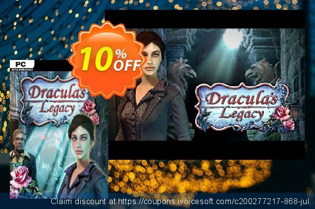 Dracula's Legacy PC discount 10% OFF, 2020 Halloween sales