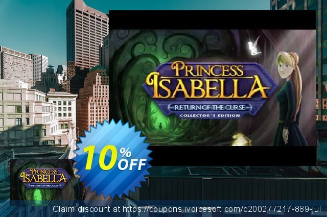 Princess Isabella Return of the Curse PC discount 10% OFF, 2020 Back to School event deals